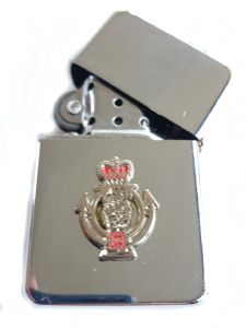 Royal Armoured Corps RAC Chrome Plated Windproof Petrol Lighter in Gift Box